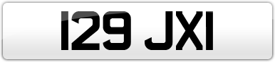 Plate image for registration plate 129JXI