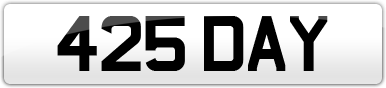 Plate image for registration plate 425DAY