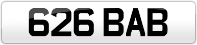 Plate image for registration plate 626BAB