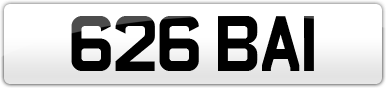 Plate image for registration plate 626BAI