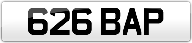 Plate image for registration plate 626BAP
