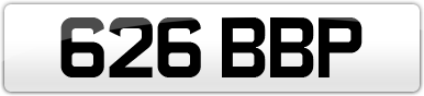 Plate image for registration plate 626BBP