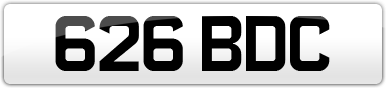 Plate image for registration plate 626BDC