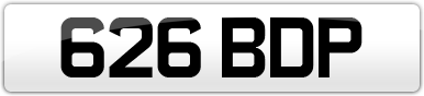 Plate image for registration plate 626BDP