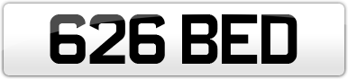 Plate image for registration plate 626BED