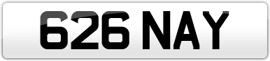 Plate image for registration plate 626NAY