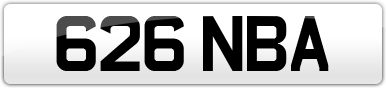 Plate image for registration plate 626NBA