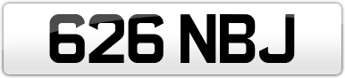 Plate image for registration plate 626NBJ