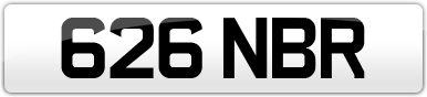 Plate image for registration plate 626NBR
