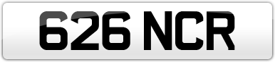 Plate image for registration plate 626NCR