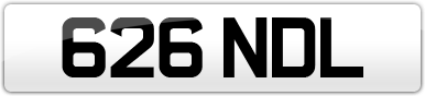 Plate image for registration plate 626NDL