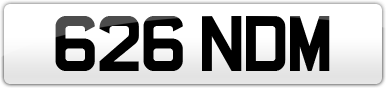Plate image for registration plate 626NDM