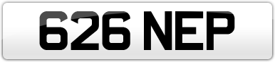 Plate image for registration plate 626NEP