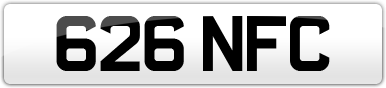 Plate image for registration plate 626NFC