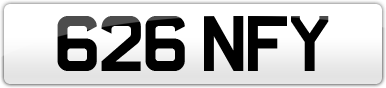 Plate image for registration plate 626NFY