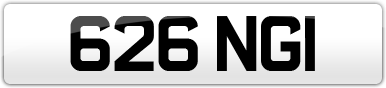 Plate image for registration plate 626NGI