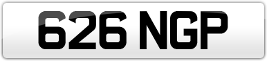 Plate image for registration plate 626NGP