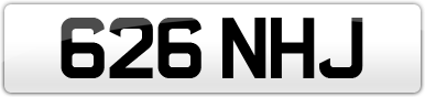 Plate image for registration plate 626NHJ