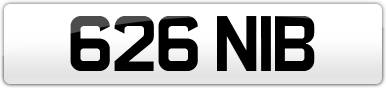 Plate image for registration plate 626NIB