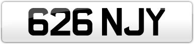Plate image for registration plate 626NJY