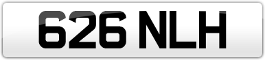 Plate image for registration plate 626NLH