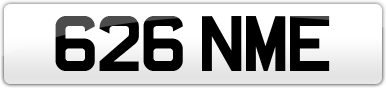 Plate image for registration plate 626NME