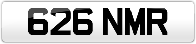 Plate image for registration plate 626NMR