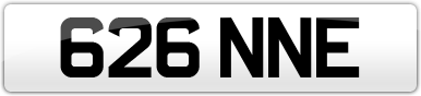 Plate image for registration plate 626NNE