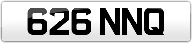 Plate image for registration plate 626NNQ
