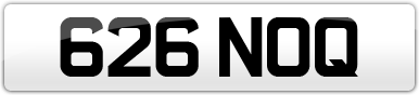 Plate image for registration plate 626NOQ