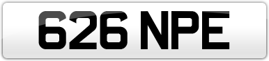 Plate image for registration plate 626NPE