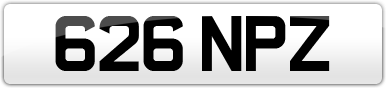 Plate image for registration plate 626NPZ