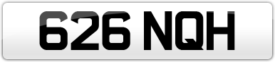 Plate image for registration plate 626NQH