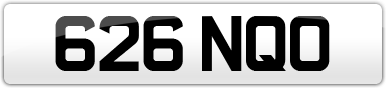 Plate image for registration plate 626NQO