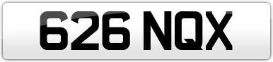 Plate image for registration plate 626NQX