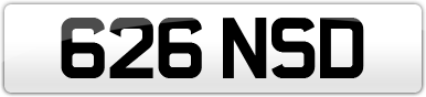 Plate image for registration plate 626NSD