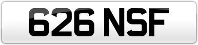 Plate image for registration plate 626NSF
