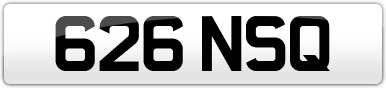 Plate image for registration plate 626NSQ