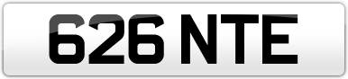 Plate image for registration plate 626NTE