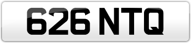 Plate image for registration plate 626NTQ