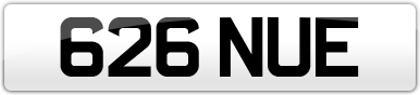 Plate image for registration plate 626NUE