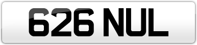 Plate image for registration plate 626NUL