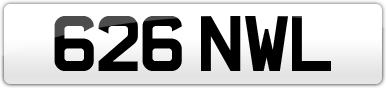 Plate image for registration plate 626NWL