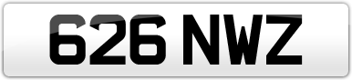 Plate image for registration plate 626NWZ
