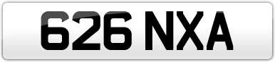 Plate image for registration plate 626NXA