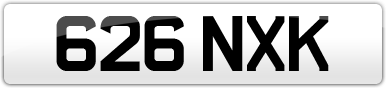 Plate image for registration plate 626NXK