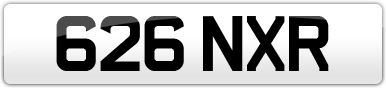 Plate image for registration plate 626NXR