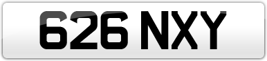 Plate image for registration plate 626NXY