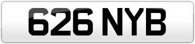 Plate image for registration plate 626NYB