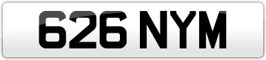 Plate image for registration plate 626NYM